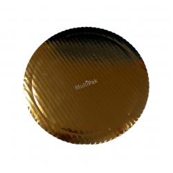 Podkładki grube Ø 30 cm złote kartonowe