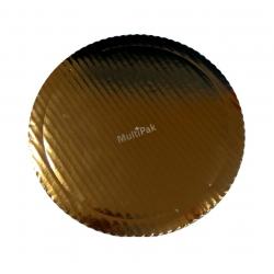 Podkładki grube Ø 36 cm złote kartonowe