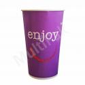 Kubek papierowy ENJOY Huhtamaki 400ml/16oz do zimnych napojów (50szt.)