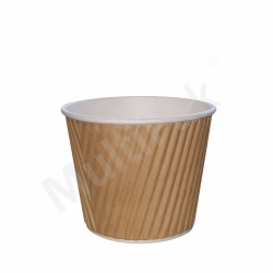 Miseczka - Kubek papierowy karbowany  240-250 ml