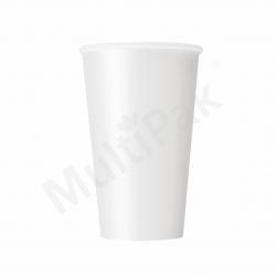 Kubek papierowy do kawy 400 ml BIAŁY (50szt.)