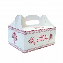 Pudełko  na ciasto 19x14x9 - folk