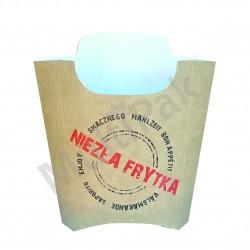 kartonik na frytki duży certyfikat smaku nadruk niezła frytka