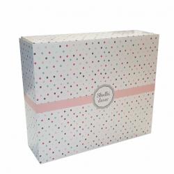 Pudełko cukiernicze na ciasto z nadrukiem w kropki - duże