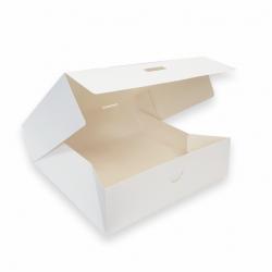 Pudełko cukiernicze na ciasto białe - duże