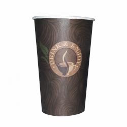 """Kubek papierowy do kawy """"Drink&Enjoy"""" 400 ml (50szt.)"""