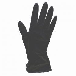Rękawice nitrylowe czarne mocne S