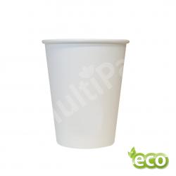 Kubek jednorazowy biodegradowalny powlekany PLA 180ml BIAŁY /2000szt