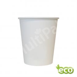Kubek jednorazowy biodegradowalny powlekany PLA 250ml BIAŁY /2400szt