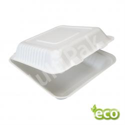 Menu Box pojemnik obiadowy z trzciny cukrowej  230x230 /KARTON 200szt