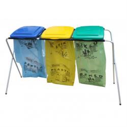 Stojak na worki do segregowania śmieci POTRÓJNY