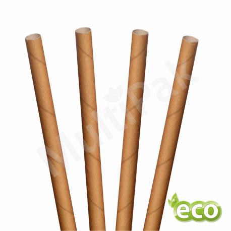 RURKI papierowe do smoothie i deserów  BRĄZOWE EKOLOGICZNE