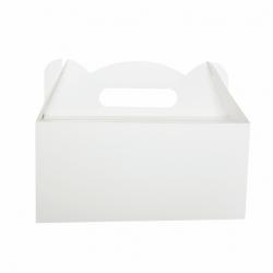 Pudełko na ciasto dla gości z rączką 19x14cm