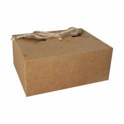 Pudełko na ciasto dla gości rustykalne  19x14cm