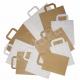 Torebka papierowa biała lunch 320x220x245mm