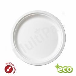 Talerz ekologiczny z trzciny cukrowej Ø 23 cm