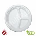 NATURA Talerz ekologiczny trójdzielny z trzciny cukrowej Ø26 cm (50szt.)
