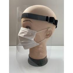 Przyłbica ochronna z poliwęglanu z regulowanym paskiem