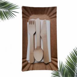 Ekologiczny ZESTAW 3 piknikowy grillowy dla 6 osób /konfekcjonowany