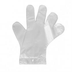 Rękawice foliowe HDPE 100szt. jednorazowe ZRYWKI rozmiar L