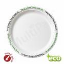 Talerze ekologiczne biodegradowalne z NADRUKIEM okrągłe