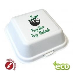 Biodegradowalne Pojemniki obiadowe, Burger Boxy z NADRUKIEM