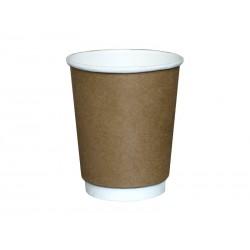 Kubek papierowy termiczny KRAFT 250ml /do napojów gorących