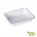 Biodegradowalny pojemnik do zgrzewu z pulpy trzciny jednokomorowy EKO /400szt