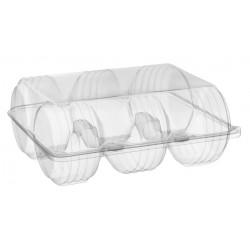 Pojemnik transparentny - pudełko na 6 pączków SL316 /300szt.