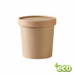 Miska papierowa na zupę Pojemnik na sałatki BRĄZ 350 ml /500szt.