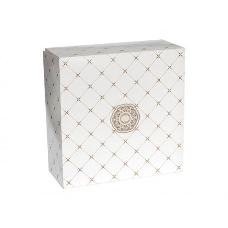 Pudełko cukiernicze na ciasto z nadrukiem klasycznym - DUŻE
