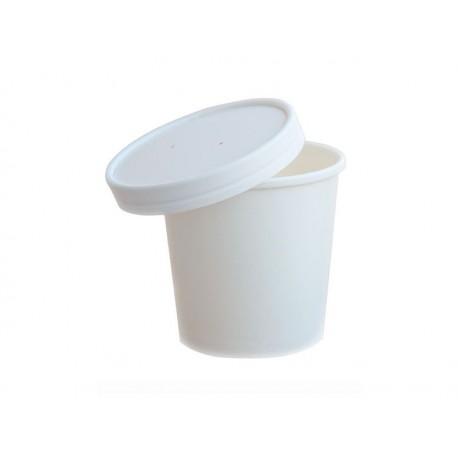 Miska papierowa na zupę Pojemnik na sałatki 470ml BIAŁY /500szt.