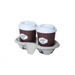 Cup Holder UCHWYT podstawka transportowa UCHWYT na 2 kubki papierowe A10