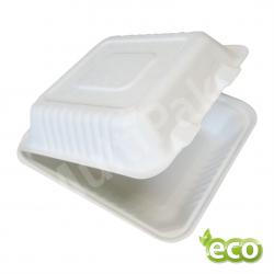 Menu Box pojemnik obiadowy z trzciny cukrowej  220x200x80 /200szt