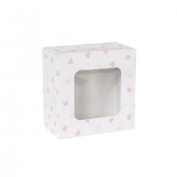 Pudełko cukiernicze na ciasto z nadrukiem w kropki - małe