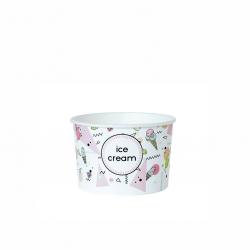 """Miseczka papierowa na lody z nadrukiem """"Ice Cream"""" 130ml"""
