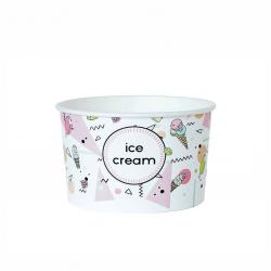 """Miseczka papierowa na lody z nadrukiem """"Ice Cream"""" 360ml"""