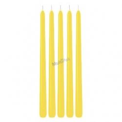 Świece stożkowe żółte
