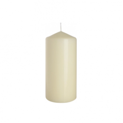Kremowa świeca bezzapachowa-  świeca walec bryłowa (śr.80/wys.200)