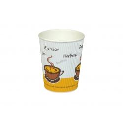 Kubek karbowany termiczny na gorące napoje
