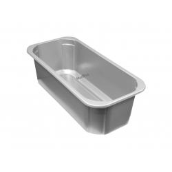 Kuweta na lody 4,75 l srebrna